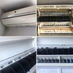 エアコン完全分解クリーニング施工事例 SHARP AY-A63SX-W
