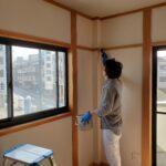 和室の白木洗い(灰汁洗い)